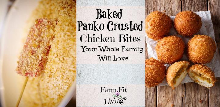 Baked Panko Crusted Chicken Bites