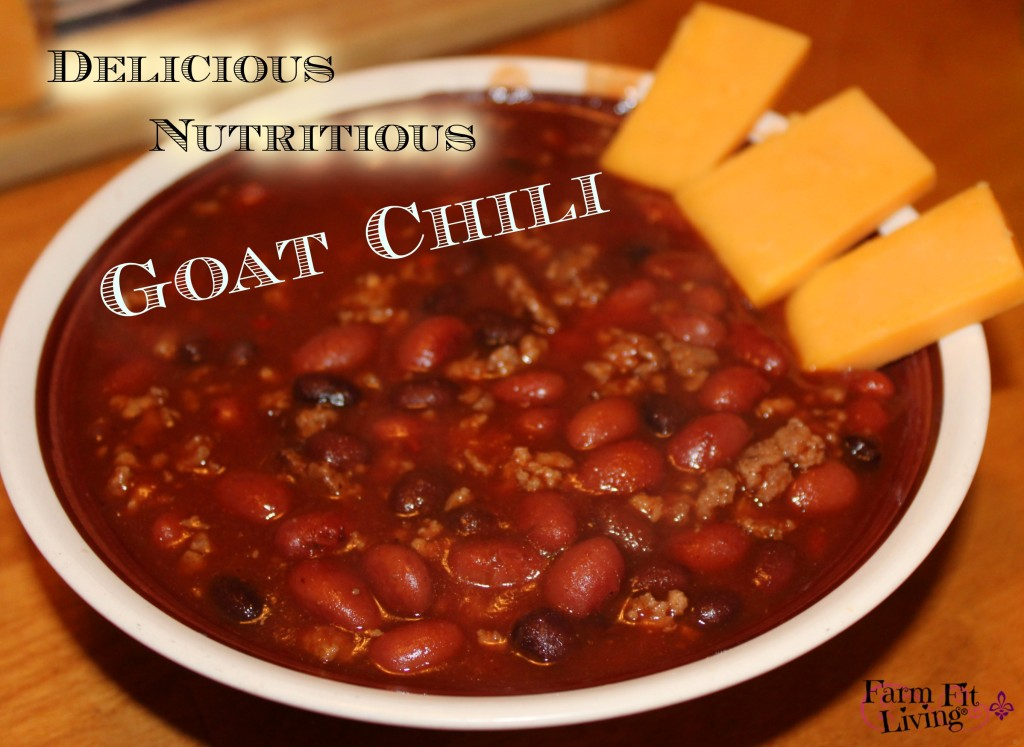 Delicious Nutritious Goat Chili