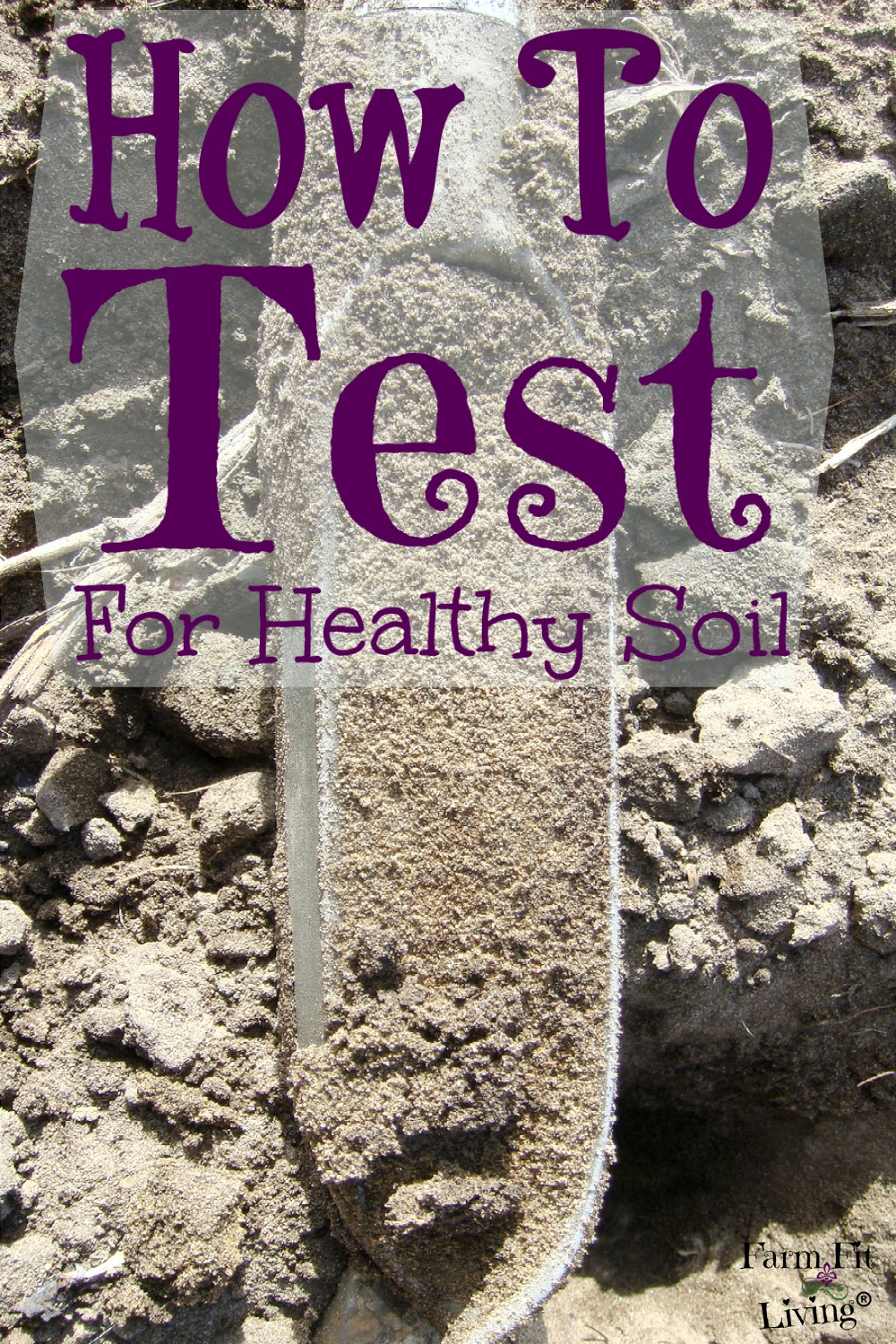 how to take soil sample for testing