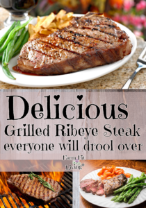 delicious grilled ribeye steak
