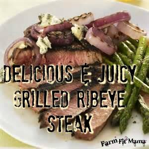 delicious ribeye steak