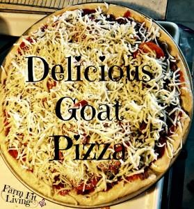 Savory Goat Pizza
