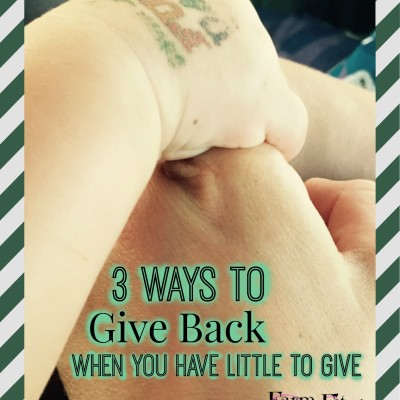 How to Give Back When You Have Little to Give