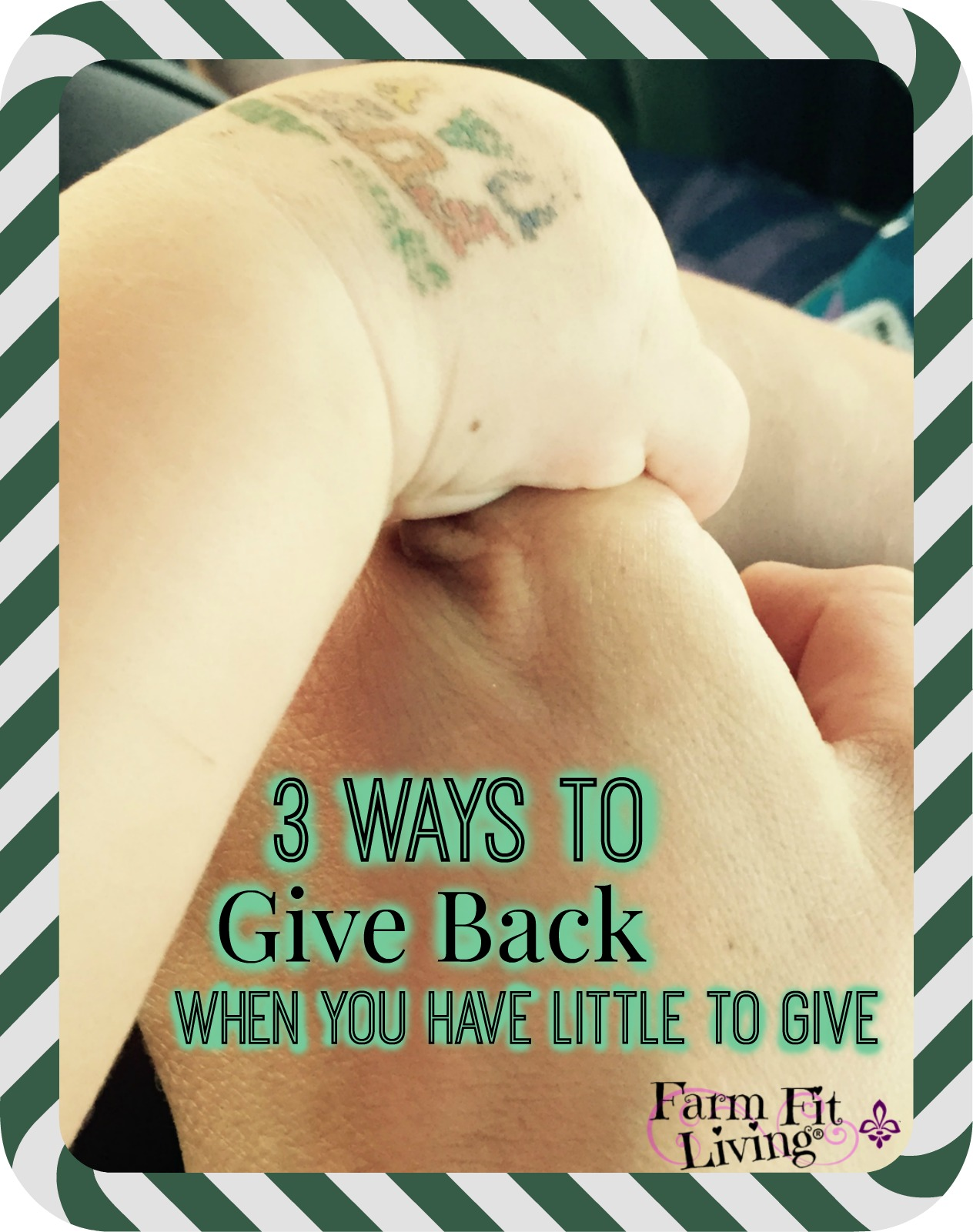 How to give back when you have so little to give