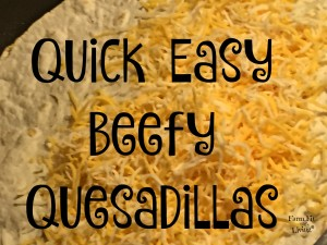 quick easy beefy quesadillas