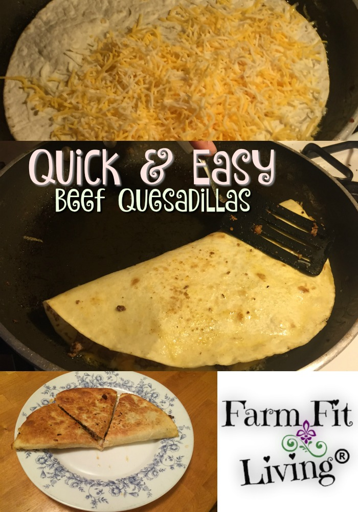 quick easy beef quesadillas