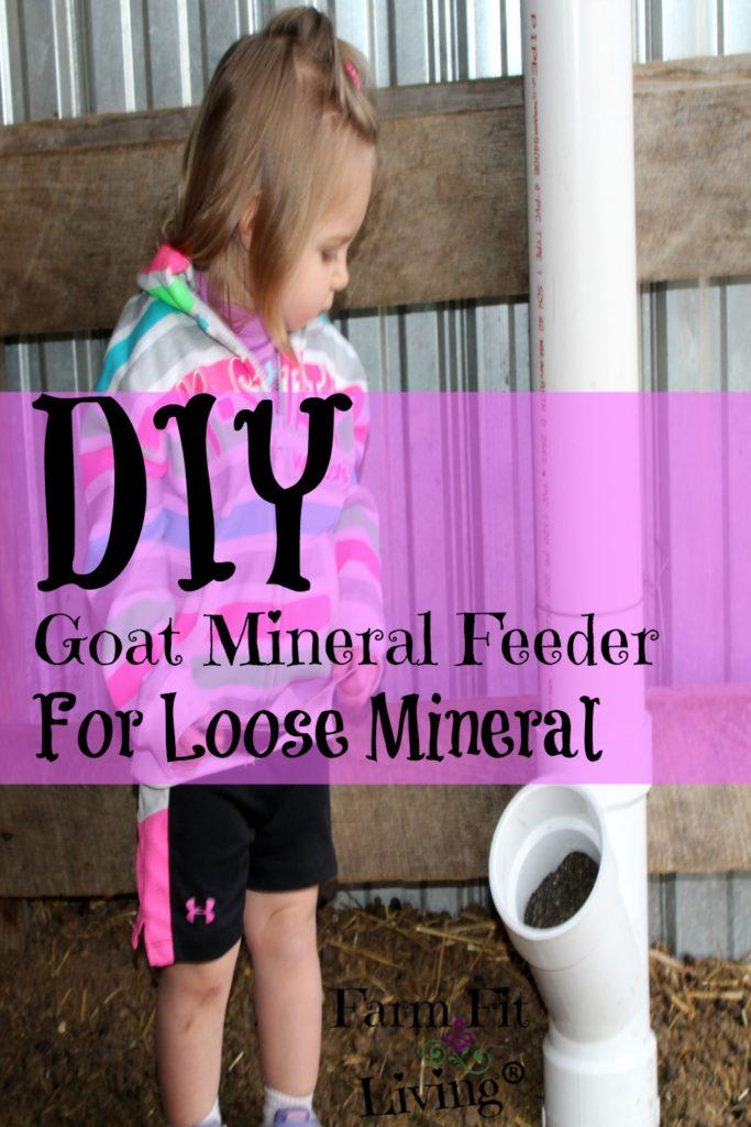 DIY Goat Mineral Feeder
