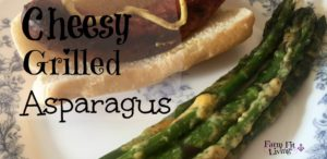 cheesy grilled asparagus