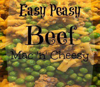 Easy Peasy Beef Mac 'n' Cheesy