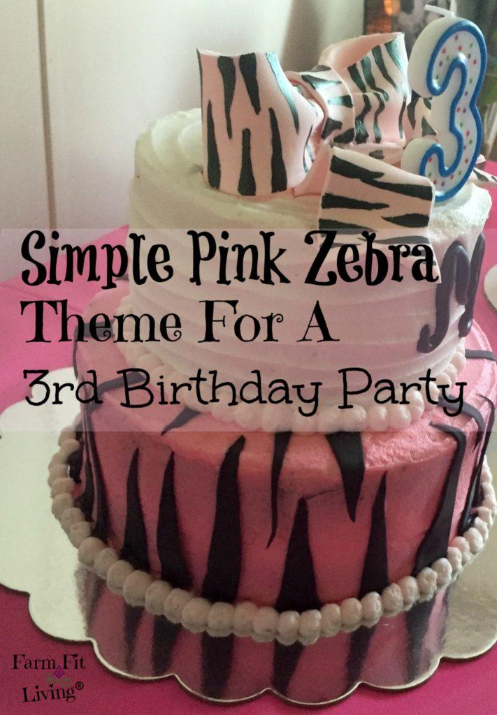 pink zebra theme