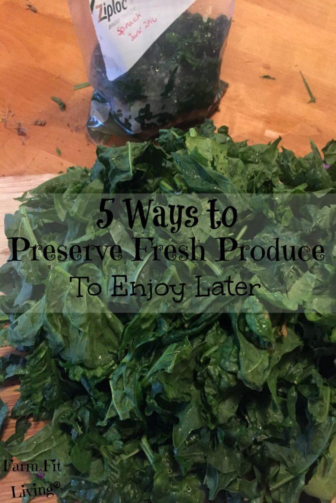 Preserve Fresh Produce