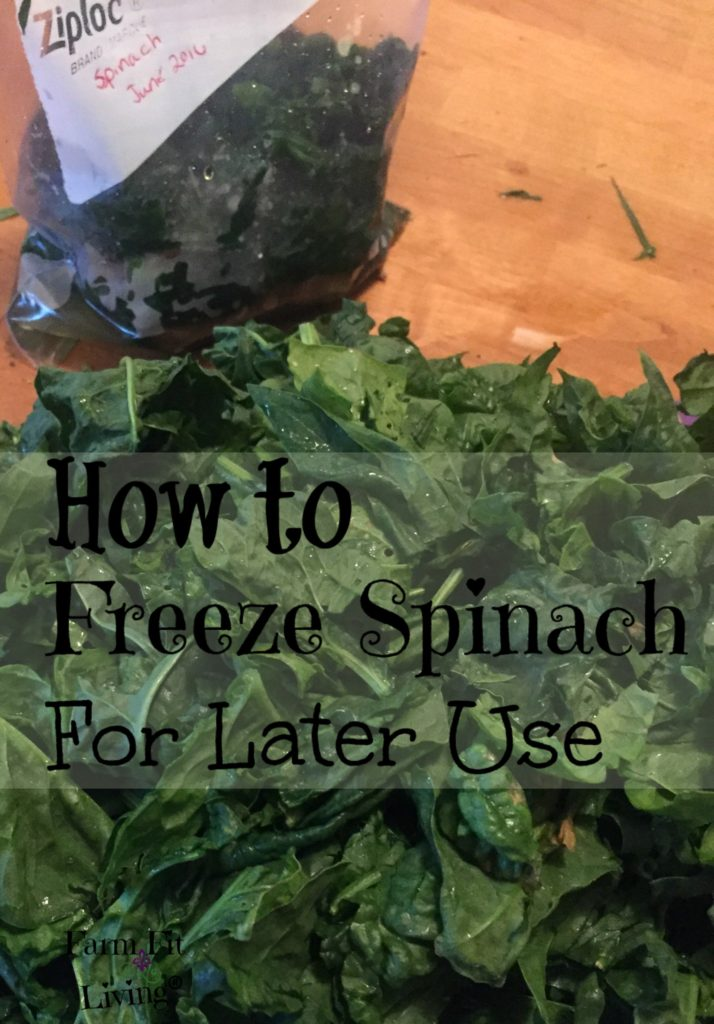 freeze spinach