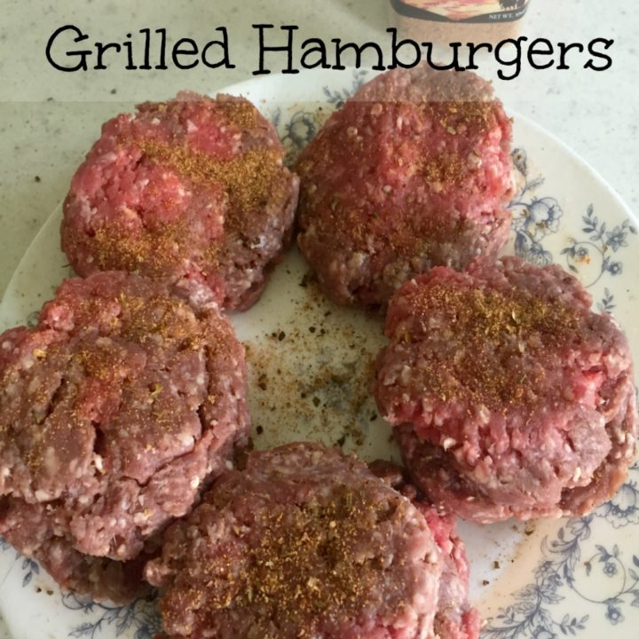 homemade hand crafted grilled hamburgers