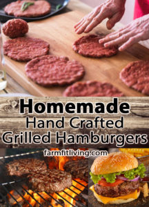 Homemade Handcrafted Grilled Hamburgers