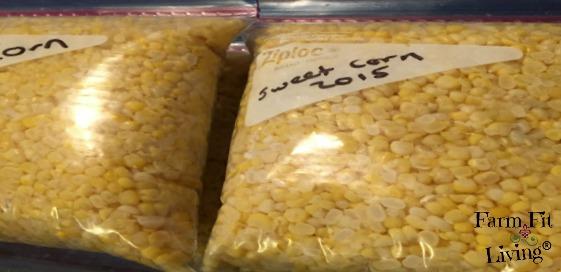 safely freeze fresh sweet corn