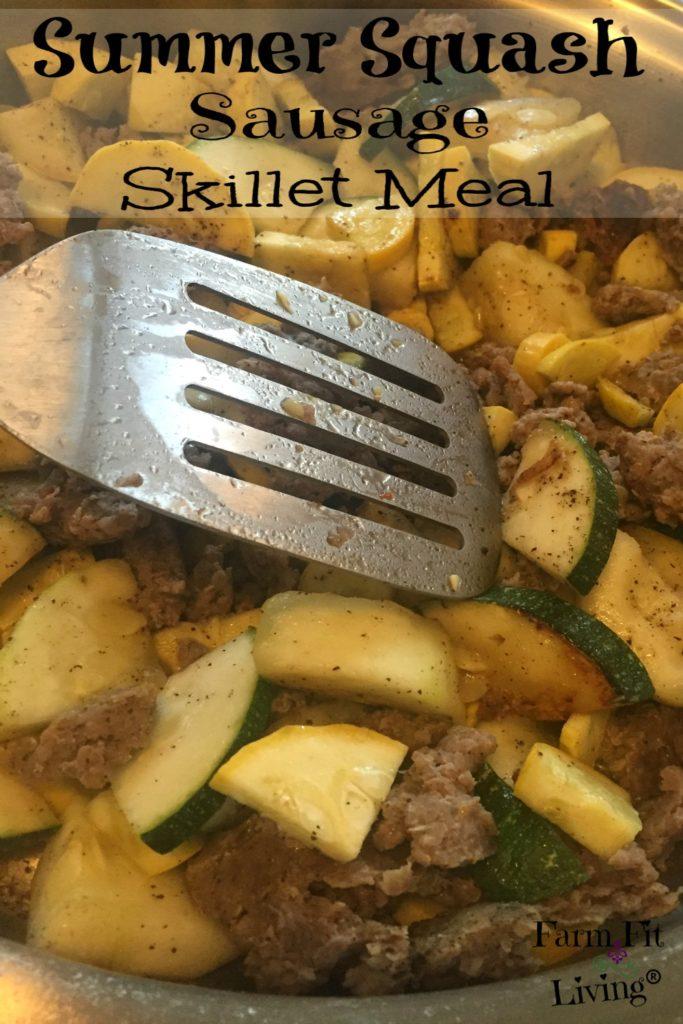 Summer Squash Sausage Skillet
