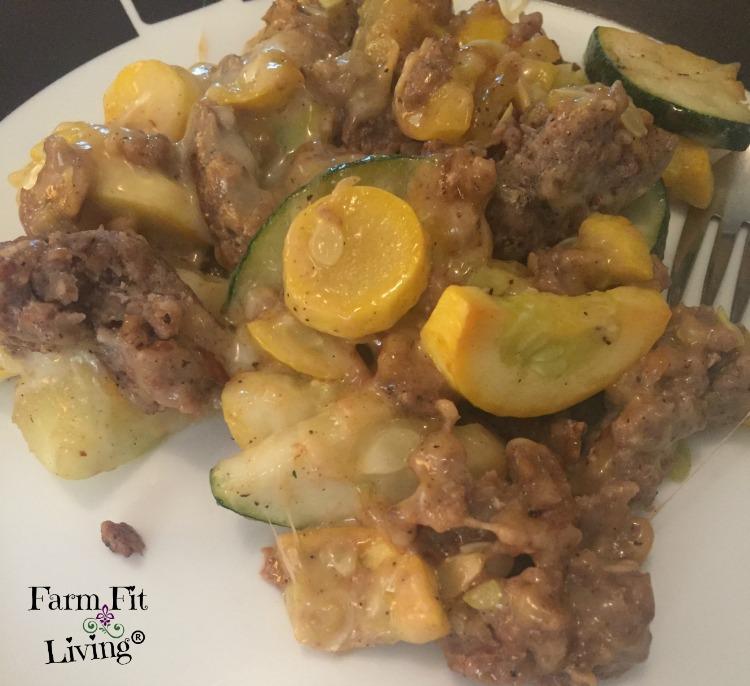 summer squash sausage skillet meal