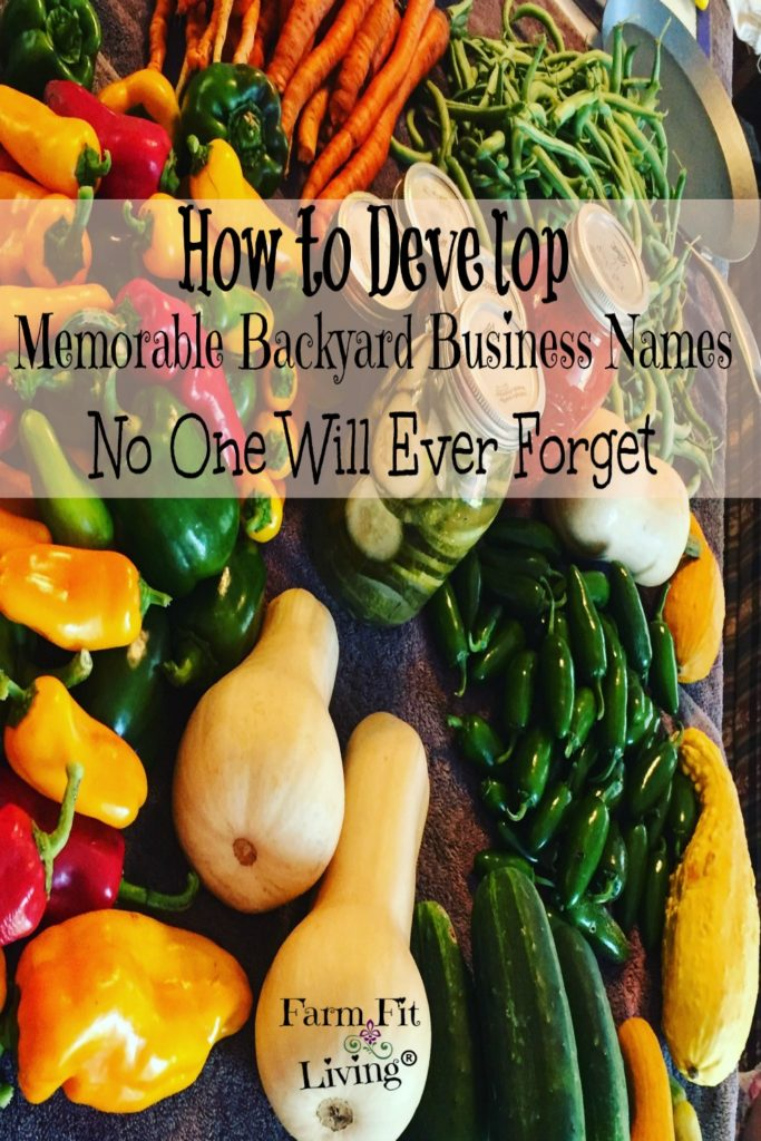 Develop Memorable Backyard Business Names