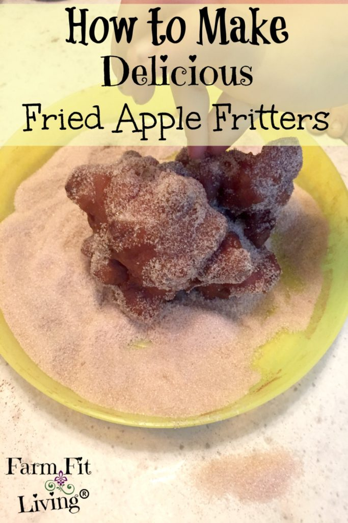 delicious fried apple fritters