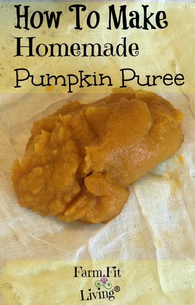 make homemade pumpkin puree