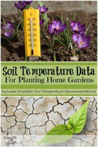 Soil Temperature Data for Planting Home Gardens