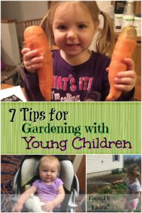 tips for gardening with young children