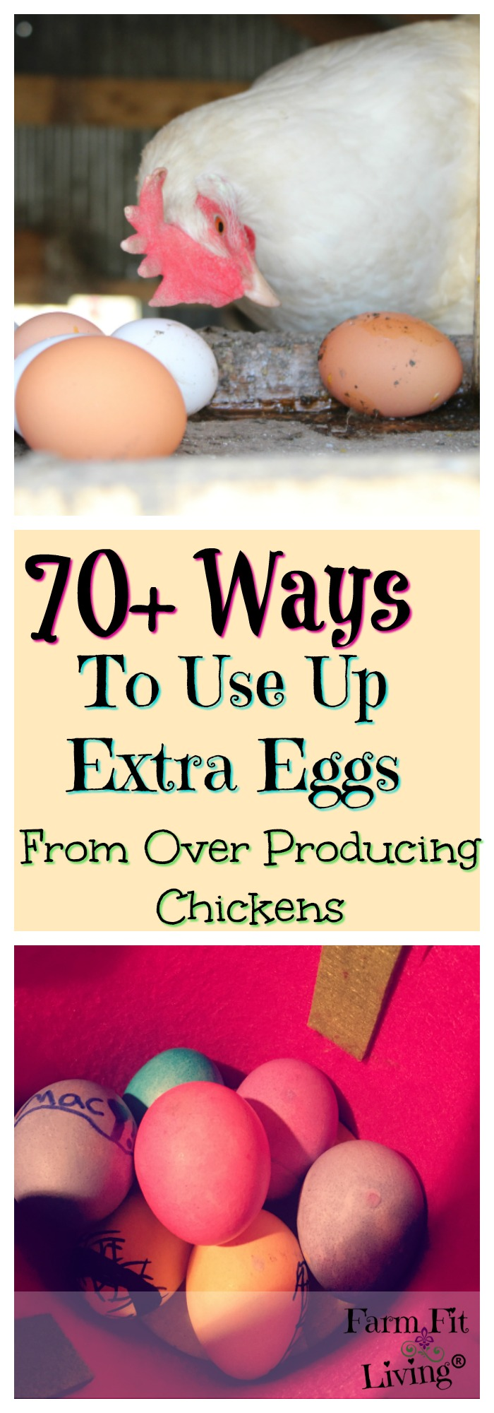 Are you drowning in fresh eggs? Here are 70+ ways to use up extra eggs from your over producing chickens.