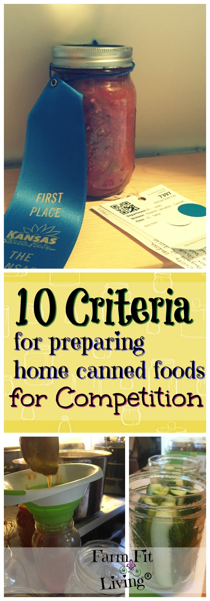 Interested in becoming a better home canner? Why not enter your canning to be judged? Here's 10 Criteria for Preparing Home Canned Foods for Competition.