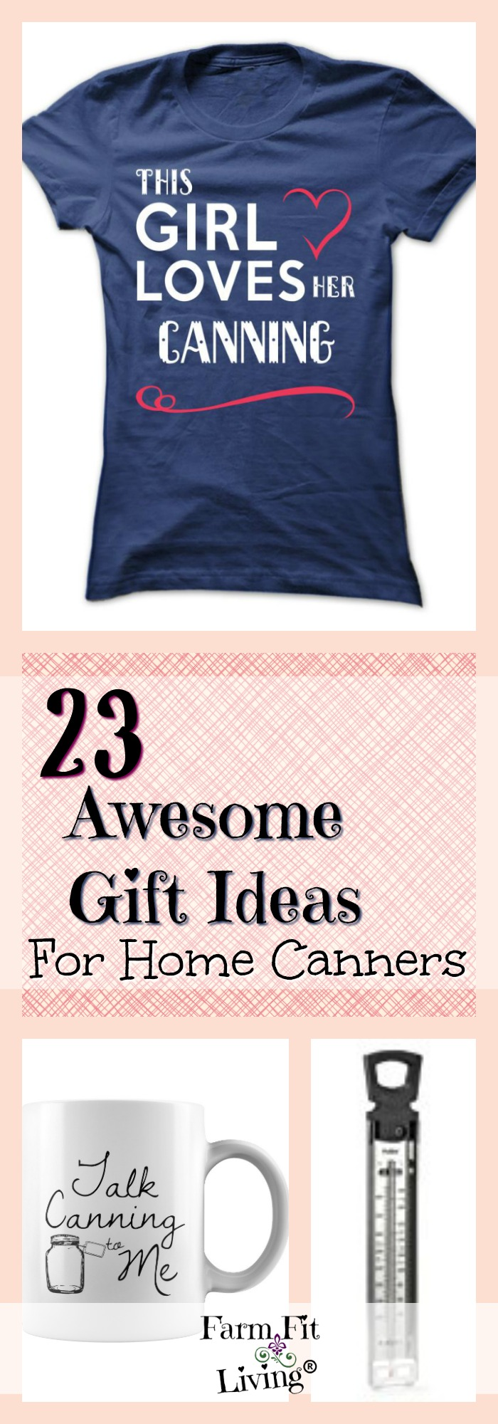 Are you in need of gift ideas for home canners? Whether it be Christmas, Birthday, or just because, here's 23 gift ideas any home canner is sure to love.