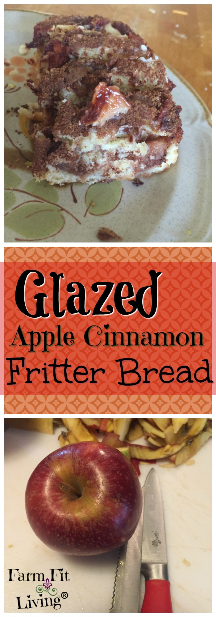 Glazed Apple Cinnamon Bread is a Farmer's Market Fall favorite. If you love apples and cinnamon rolls, you really need to try this easy-to-make recipe.
