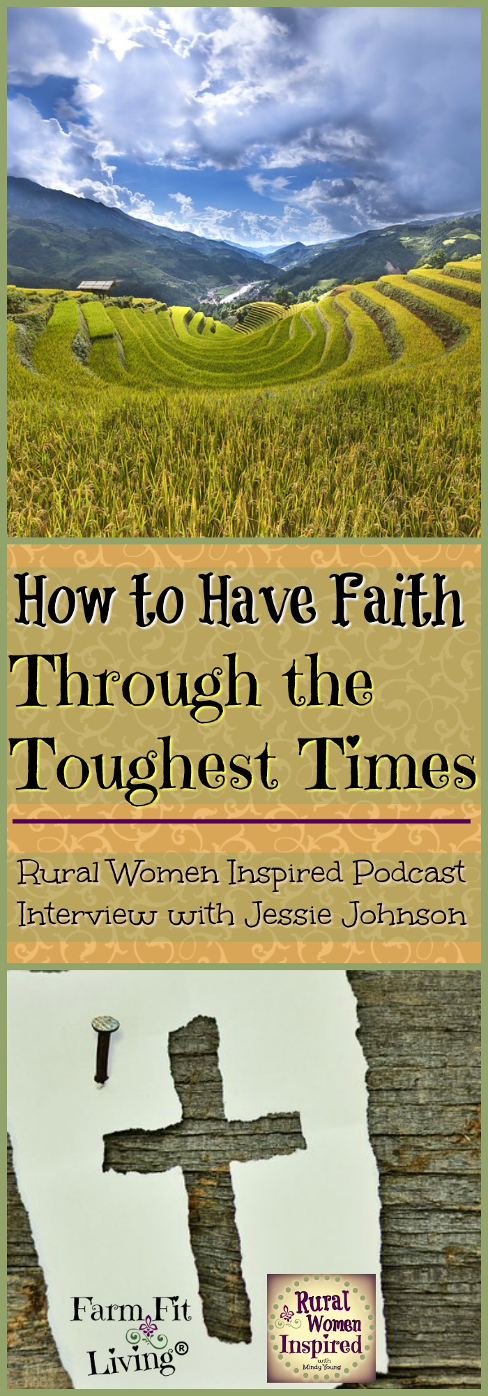 Are you facing tough times ahead? Or maybe you're in the midst of it with nowhere to go but upwards. Jessie Johnson talks about how to have faith through the toughest times.
