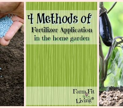 4 Methods of Fertilizer Application in the Home Garden