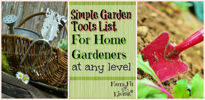 Simple Garden Tools List