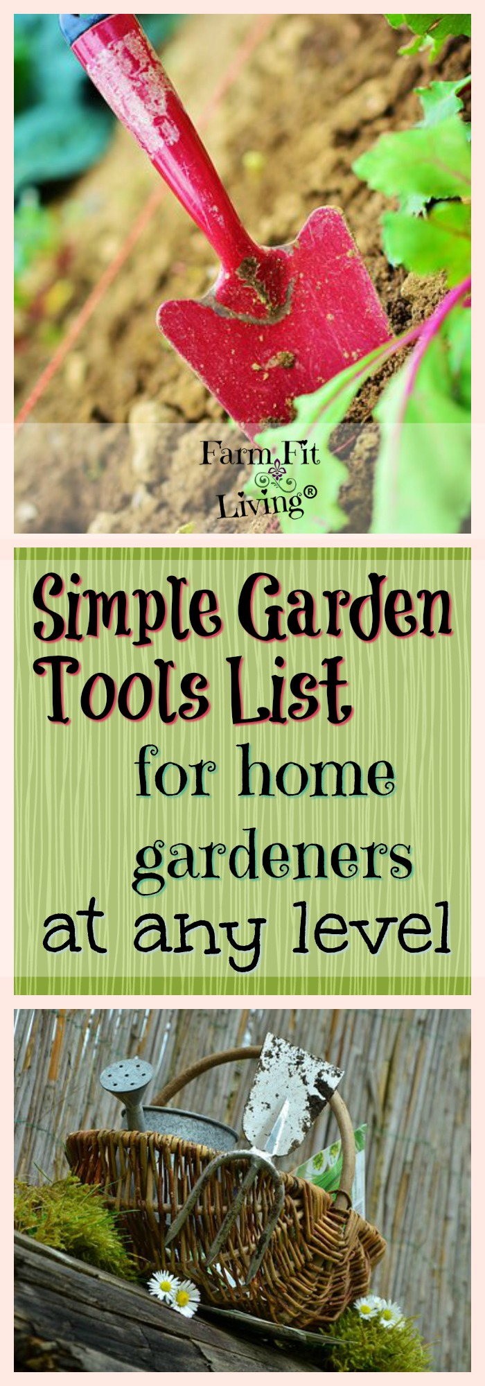 Are you looking for a simple garden tools list to help you grow your garden? I've included supplies needed for home gardeners at every level. Click to read more. #gardentools
