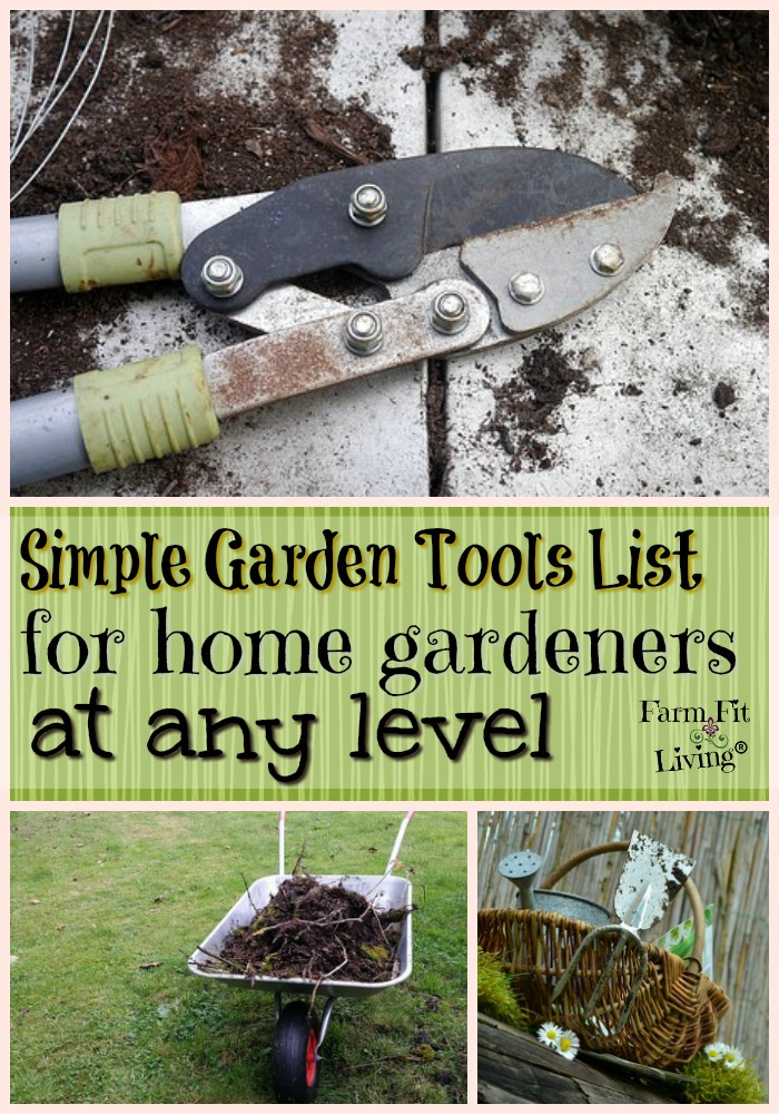 Simple garden tools list for home gardeners at any level for Home and garden equipment