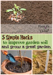 5 simple hacks to improve garden soil