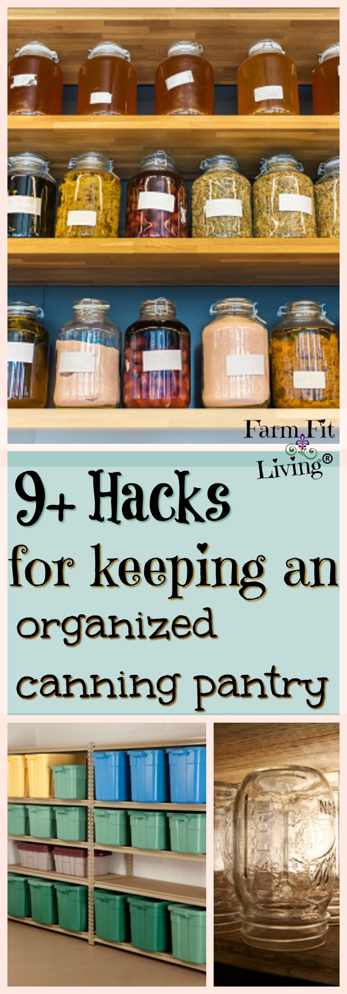Are you struggling with organizing your canning space? Here are 9+ Hacks for keeping an organized canning pantry.