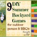 9 DIY Summer Backyard Games for Outdoor Picnics and BBQ's