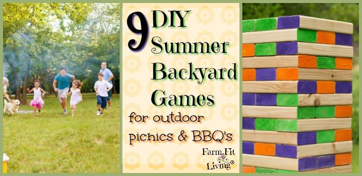 DIY Summer Backyard Games for Outdoor Picnics