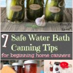 safe water bath canning tips