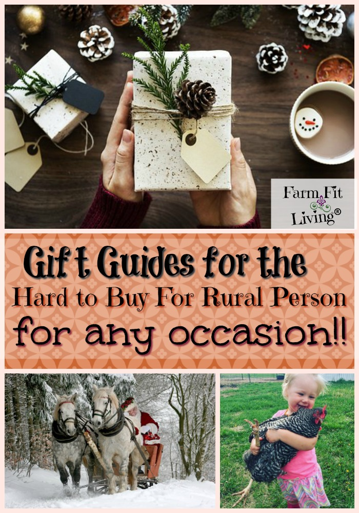Are you looking for unique gift guides for the hard-to-buy-for rural person? This page is loaded with gift ideas that are sure to make finding gifts easy for you.