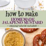 Yummy homemade jalapeno mustard recipe