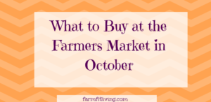what to buy at the farmers market in October