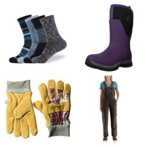 warm winter wear for rural women who work outside