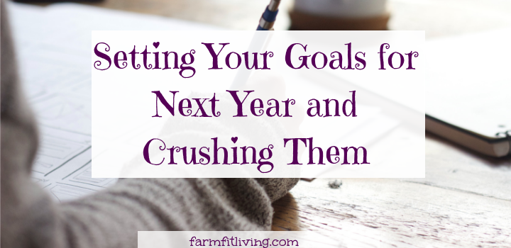 setting your goals for next year