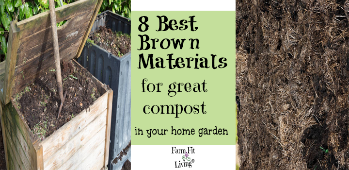 best brown materials for great compost for your home garden