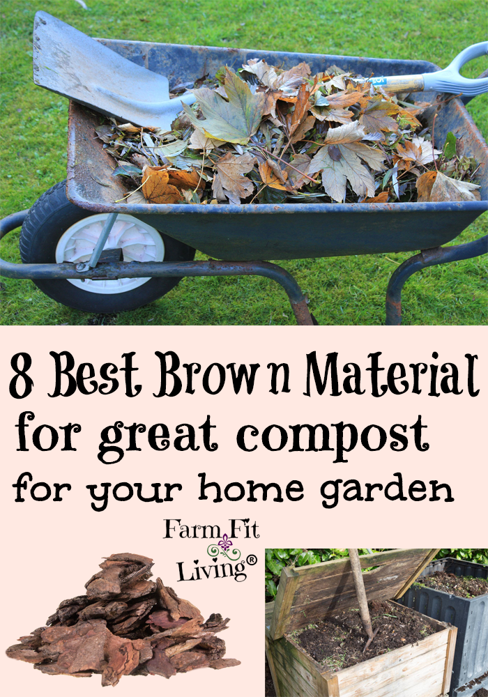best brown material for great compost for your home garden