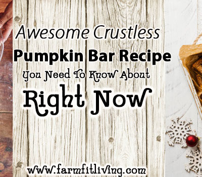 Awesome Crustless Pumpkin Bar Recipe You Need To Know About
