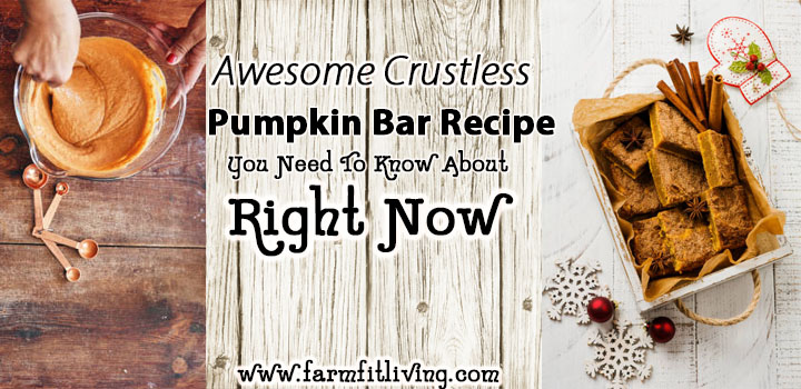 Awesome Crustless Pumpkin Bar Recipe