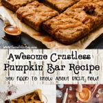 Awesome Crustless Pumpkin Bar Recipe